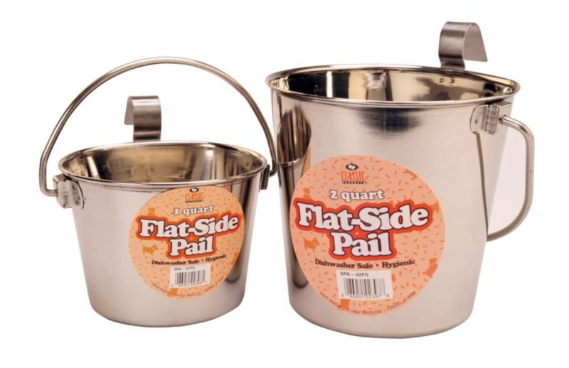 Flat-Sided Hook-On Pails 2 Quarts