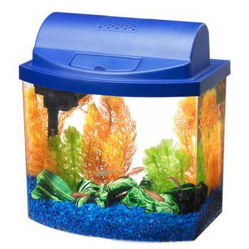 Aqueon Mini Bow Aquarium Kit 2.5 Gallon Blue