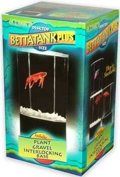 TOM Betta Tank Plus Black