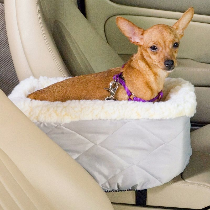 Console Lookout Pet Car Seat Large Denim