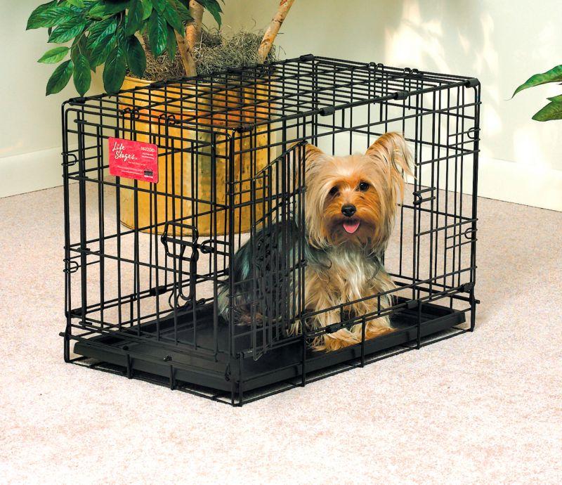 Midwest life stages double door dog crate 36x24x27 dog for Double door with dog door