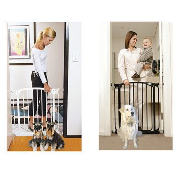 Bindaboo Swing Closed Security Dog Gate White