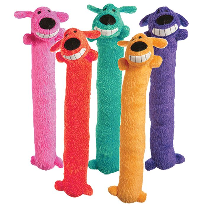 Image of Loofa Dog Assorted Colors Large 18 Inch