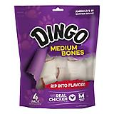 Dingo Medium White Treats 4 Pack Value Bag 10 oz