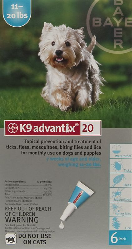 K9 Advantix For Dogs 6 Month Supply 11-20 Lbs