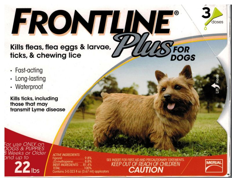 Frontline Plus for Dogs 3 Mths 1-22 Lbs.
