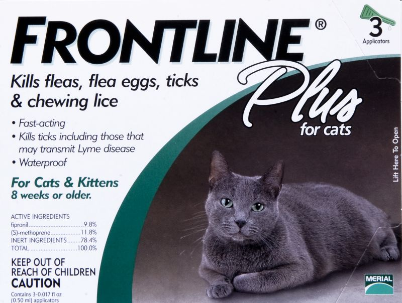 Frontline Plus 3 Month Cat Keep your cats' claws on the scratching post and off their delicate skin with Frontline(R) Plus. It stops fleas, ticks, an