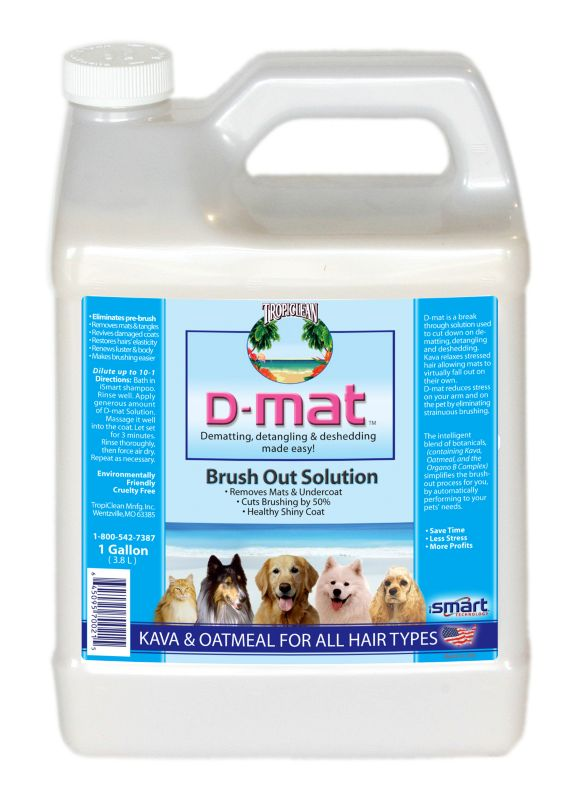 Tropiclean D-Mat Solution for Pets GALLON