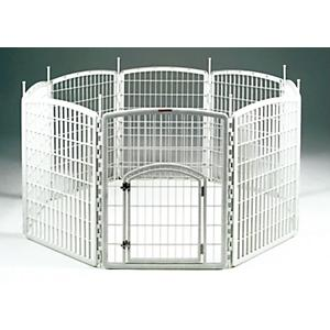 Iris Plastic Pet Exercise Pen 63 X 63 X 34 Dog Com