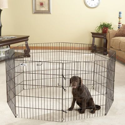 Therapet Dog Exercise Pen Black 24w X 48h