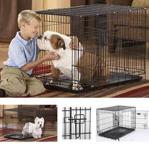 Duracrate Folding Dog Crate Black 30 X 19 X 22
