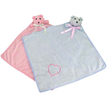 Bear Blankies 16 x 16 Blue