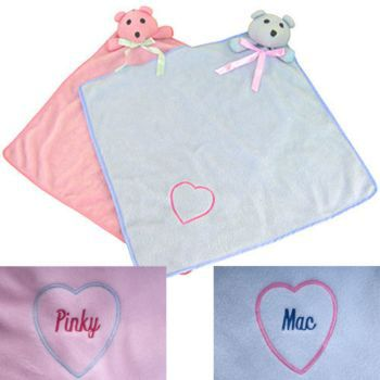 Bear Blankies 16 x 16-Personalized Blue