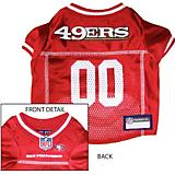 San Francisco 49ers White Trim Dog Jersey