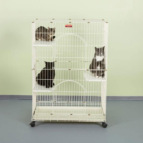 ProSelect Foldable Cat Cage Ivory