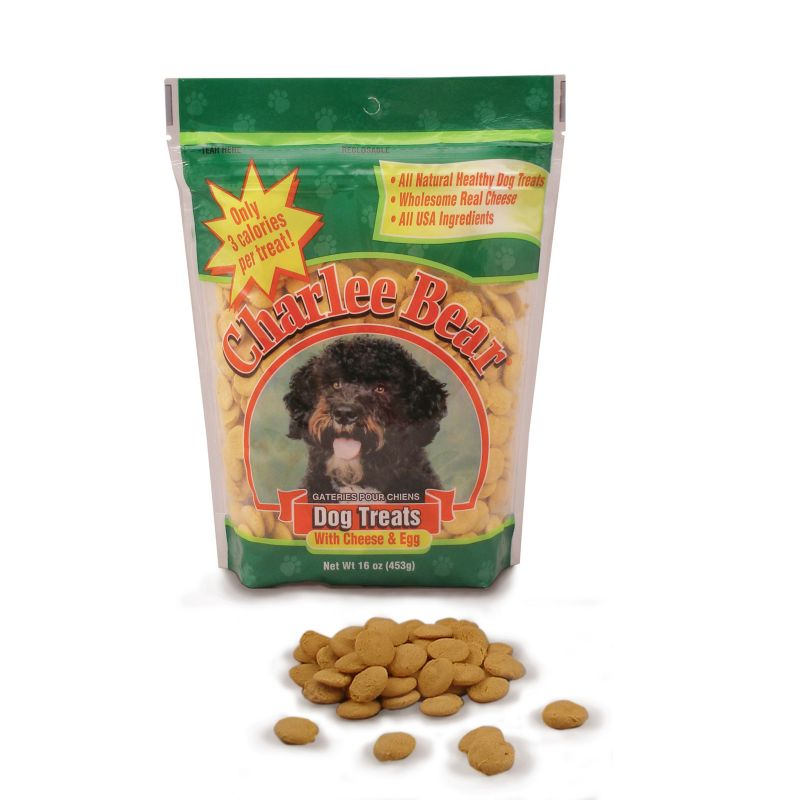 Charlee Bear Dog Treat Cheese/Egg