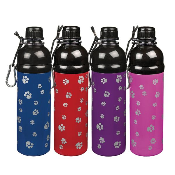 Guardian Gear Steel Pet Water Bottle 16oz Red