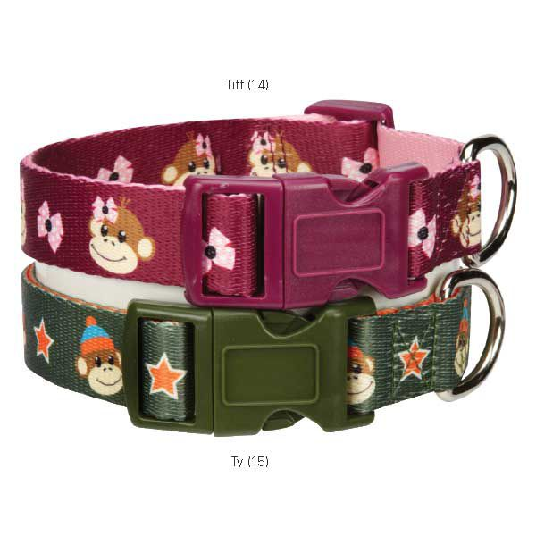 East Side Monkey Buz Dog Collar 6 to 10in Tiff