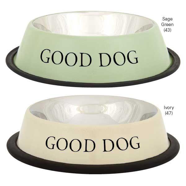 ProSelect Good Dog SS Dog Bowl 8OZ Sage Green