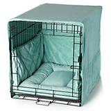 Pet Dreams Seafoam Blue Dog Crate Bedding