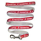 NCAA Alabama Crimson Tide White Trim Dog Leash