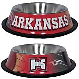 NCAA Arkansas Razorbacks Stainless Steel Dog Bowl