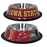 NCAA Iowa State Stainless Steel Dog Bowl