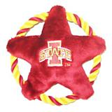 NCAA Iowa State Rope Disk Dog Toy