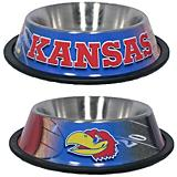 NCAA Kansas Jayhawks Stainless Steel Dog Bowl