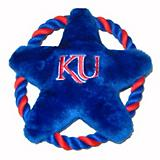 NCAA Kansas Jayhawks Rope Disk Dog Toy