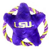 NCAA LSU Tigers Rope Disk Dog Toy