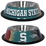 NCAA Michigan State Stainless Steel Dog Bowl