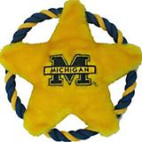 NCAA Michigan Wolverines Dog Rope Disk Toy