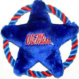 NCAA Mississippi Rebels Rope Disk Dog Toy