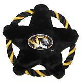 NCAA Missouri Tigers Rope Disk Dog Toy