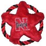 NCAA Nebraska Huskers Rope Disk Dog Toy