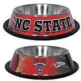 NCAA North Carolina State Stainless Steel Dog Bowl