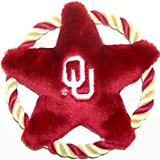 NCAA Oklahoma Sooners Rope Disk Dog Toy