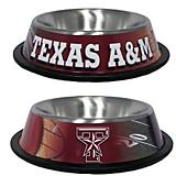 NCAA Texas AM Dog Stainless Steel Dog Bowl