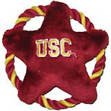 NCAA USC Trojans Rope Disk Dog Toy