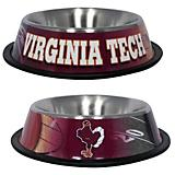NCAA Virginia Tech Stainless Steel Dog Bowl