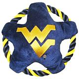 NCAA West Virginia Rope Disk Dog Toy