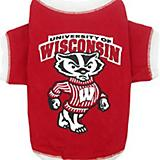 NCAA Wisconsin Badgers Dog Tee Shirt