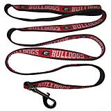 NCAA Georgia Bulldogs Black Trim Dog Leash