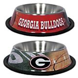 NCAA Georgia Bulldog Stainless Steel Dog Bowl