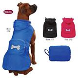 CC Fleece Lined Stowaway Dog Rain Jacket