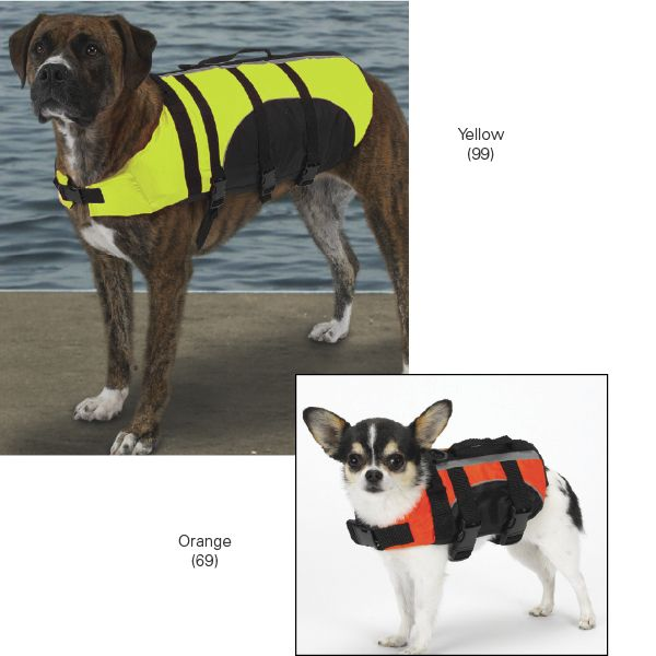 Guardian Gear Aquatic Pet Life Preserver S/M YEL