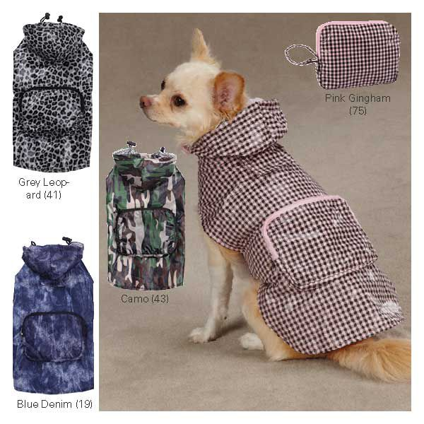 Casual Canine Rainy Day Dog Jacket MD GRY