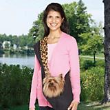 ESC Reversible Leopard Sling Pet Carrier