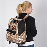 CC Animal Print Wheeled Backpack Pet Carrier
